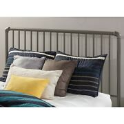 Queen Size Grey Classic Metal Farmhouse Shabby Chic Headboard Frame Bed Bedroom
