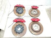 2009-2015 Cadillac Cts-v Red Brembo Brake Calipers Front And Rear Used W/ Rotors