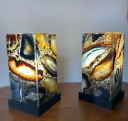 9 Inch Agate Rectangle Lamp