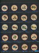 1961 Jello Car Wheels Coins Lot Of 79 Nice Condition Vintage Advertising Coins