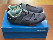 Shimano Womens Rc1w Navy Cycling Cleats Size Us 7.2 Eur 39