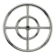 12 Double Ring Stainless Steel Outdoor Cross Bar Fire Pit Burner W/.5 Inlet