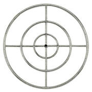 30 Triple Ring Stainless Steel Outdoor Cross Bar Fire Pit Burner W/.75 Inlet