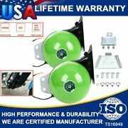 2 110db Super Snail Air Train Horn For Truck Car Boat Motorcycle 12v Electric Us