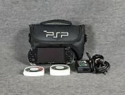 Psp 2001 Handheld System Bundle 7 Games With Carrying Case