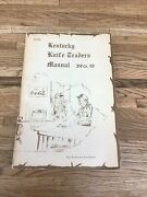 Kentucky Knife Traders Manual No 6 Roy Ritchie And Ron Stewart Rare Oop A-1