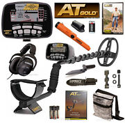 New Garrett At Gold Metal Detector Premium Bundle With Pro-pointer At And More