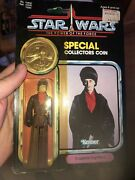 Vintage Star Wars 1984 Rotj Potf Carded Imperial Dignitary Rare Special Coin