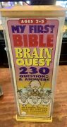 My First Bible Brain Questvtg 1994 Ages 2-5 Years 230 Qanda Of Old/new Testaments