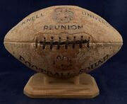Beautiful Antique 1924 Bucknell University Spalding Trophy Football Early Old