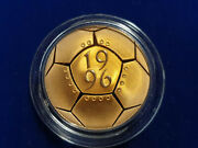 🌟1996 Andpound2 Football Gold Proof Coin - 2 Pounds Double Sovereign - Uk Royal Mint