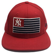 New Era New York Yankees Embroidered American Flag Red Hat Snapback Rare