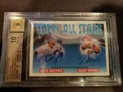 2018 Topps Archives Mike Trout Kris Bryant Ssp Auto On Card /15 Bgs 10 Pristine