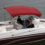 Shademate 80330 Red Bimini Top Polyester Fabric/boot Only4-bow 8and039lx54h67-72w