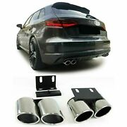 Exhaust Pipe Trims Tips For Audi A3 8v 02/2013 Model