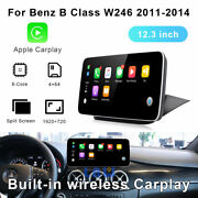 12.3 Inch Android Car Gps Auto Radio For Mercedes Benz B Class W246 2011-2014