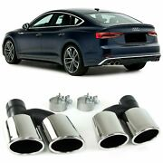 Exhaust Pipe Trims Tips For Audi A5 8t 10/2011 Model