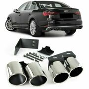 Exhaust Pipe Trims Tips For Audi A4 B9 Saloon And Estate 5/2015 Model