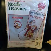Counted Cross Stitch Needle Treasures Father Christmas Unopened