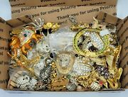 Vtg Junk Lot Jewelry All Animals Bug Insects Craft Harvest Lots Of Rhinestones