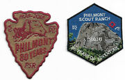 Philmont Scout Ranch 2018 80th Years Adventure Patches Set Of 2