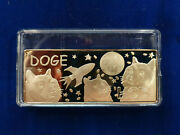 🌟2017 Dogecoin Proof-finish Gold-plated Bar - Ultra Rare Limited To 20