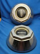 Pair Of Vintage Lincoln Town Car Continental Mark Hubcap Center Caps 6 And 3/4
