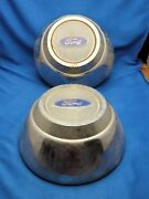 Pair Of Vintage Ford Car Continental Mark Hubcap Center Caps