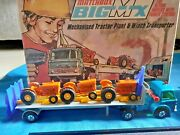 Matchbox Superkings Big Mx Set Bm-2 Ford Tractor Transporter And Factory Boxed