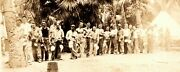Vintage 1920and039s Military 3rd Engineers Photo Soldiers Line Tropical Summer Camp