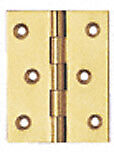 2 - 1/2 X 2 Fixed Polished Solid Brass Pin Hinge Vertex Pair 930246