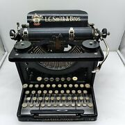 L. C. Smith And Bros Antique Typewriter No. 8 Horse Decal White Keys Works