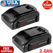 2-pack 20 Volt For Worx Wa3525 20v 2.0ah Max Lithium Battery Power Tools Wa3520