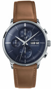 Junghans Meister Chronoscope Automatic Blue Sunray Dial Mens Watch 027/4526.01