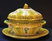 Herend Yellow Dynasty Sj Tureen And Oval Platter