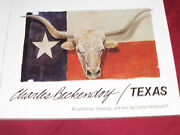 Autographed Book Texas By Charles Beckendorf Coffee Table Western Cowboy Art Tx
