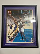 Kobe Bryant Lakers Signed Autographed 16x20 Framed And Matted Psa/dna