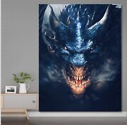 ☑️alx☑️ New Large Dragon Wall Tapestry 60x80 In., Hanging Set Included