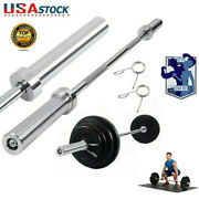 Olympic Chrome Bar 7ft 330lb Weight Lifting Barbell Rod Workout Gym Training