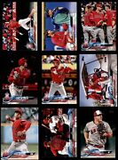 2018 Topps Update Los Angeles Angels Almost Complete Team Set 8 - Nm/mt