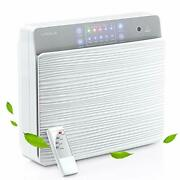 Hepa Air Purifier For Home, Wall-mounted And Desktop 1311.84.5 In White-u+v