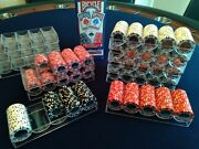 Coin Inlay 15g Poker Chips X740 Trays,cards