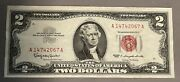 1963 2 Two Dollar Note Red Seal Legal Tender Bold Bright Colors Bill