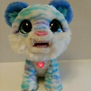 Furreal Friends North The Sabertooth Kitty Purple Teal Super Soft Works Interact