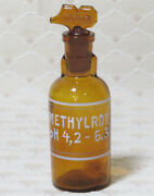 Victorian Drip By Drop Methylrot Amber Glass Apothecary Chemist Poison Bottle