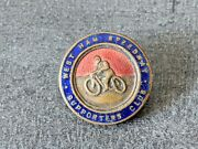 1930's West Ham Speedway Supporters Club Enamel Badge By Fattorini And Sons