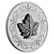2020 Canadian Maple Leaf Brooch Legacy - 2 Oz Silver Coin - Miniature Pendant