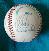 Ny Yankees Derek Jeter Mariano Riveratorre Raines 11 Sigs Autographed Bb Jsa