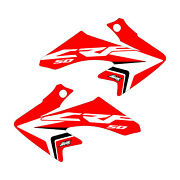 Honda Crf50 Shroud Graphics Red 2004-2021 Updated Style Free Shipping