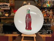 1950and039s Coca-cola Coke White 24 Porcelain Button Sign Watch Video